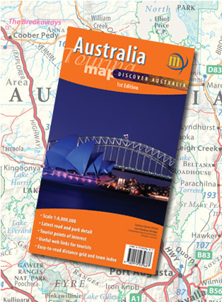 Australia Touring Map Folded Meridian